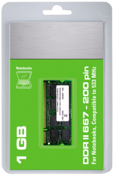 Arbeitsspeicher SO-DIMM DDR-II RAM ''CnMemory'', 667MHz, 1024MB, CL 5.0