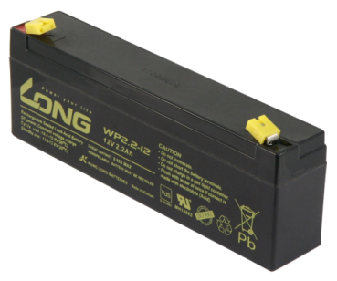 Bleiakku KUNG LONG ''WP2,2-12'' 12V/2,2Ah, VdS, 178x34x60mm, 1,06kg