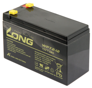 Bleiakku KUNG LONG ''WP7,2-12'' 12V/7,2Ah, VdS, 151x65x102mm, 2,67kg