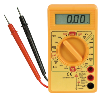 Digitalmultimeter McPower ''M-330T'', Temperatur-Messung -50 °C bis +1.000°C